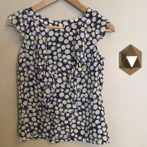Anthropologie Portrait of a Girl Silk Dotted Top
